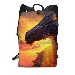 Mochila con dragon impresión 3D para marcha