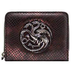 cartera de mujer la madre de dragones piel de dragón escudo Targaruen
