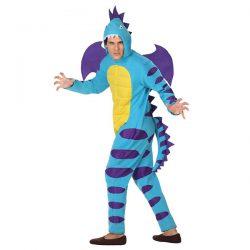 Disfraz para hombre adulto de dragon azul