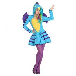 Disfraz para mujer adulta de dragon azul