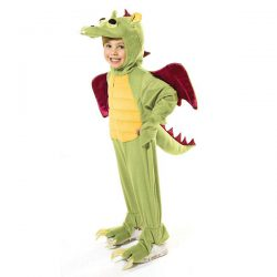 Disfraz dragon verde juvenil 128 cm