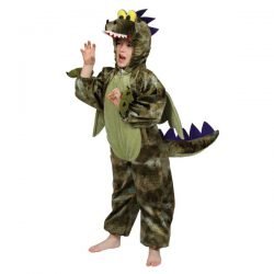Disfraz dragon verde orcuro juvenil 7-8 años