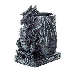 cubilete para lapiceros de dragón gótico