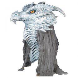 Mascara antiguo dragon blanco hielo