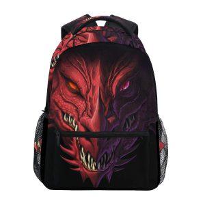 mochila heavy gran dragon rojo colmillos fauces