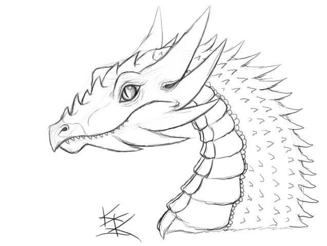 perfil o busto de dragón de inspiración anime