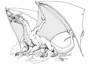 Dibujos de Dragón para colorear