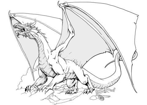 otro dragon feroz rugiente atacando