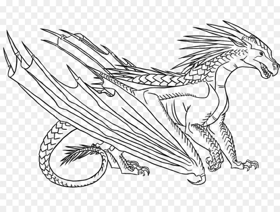 silueta sencilla dragón sentado con puas