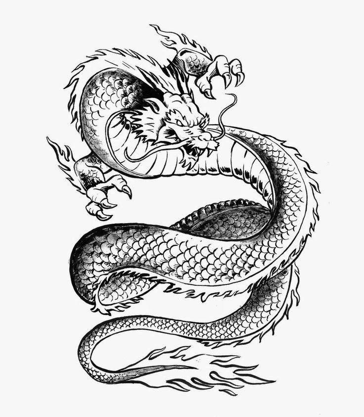 dragon chino o japones con garras amenazantes