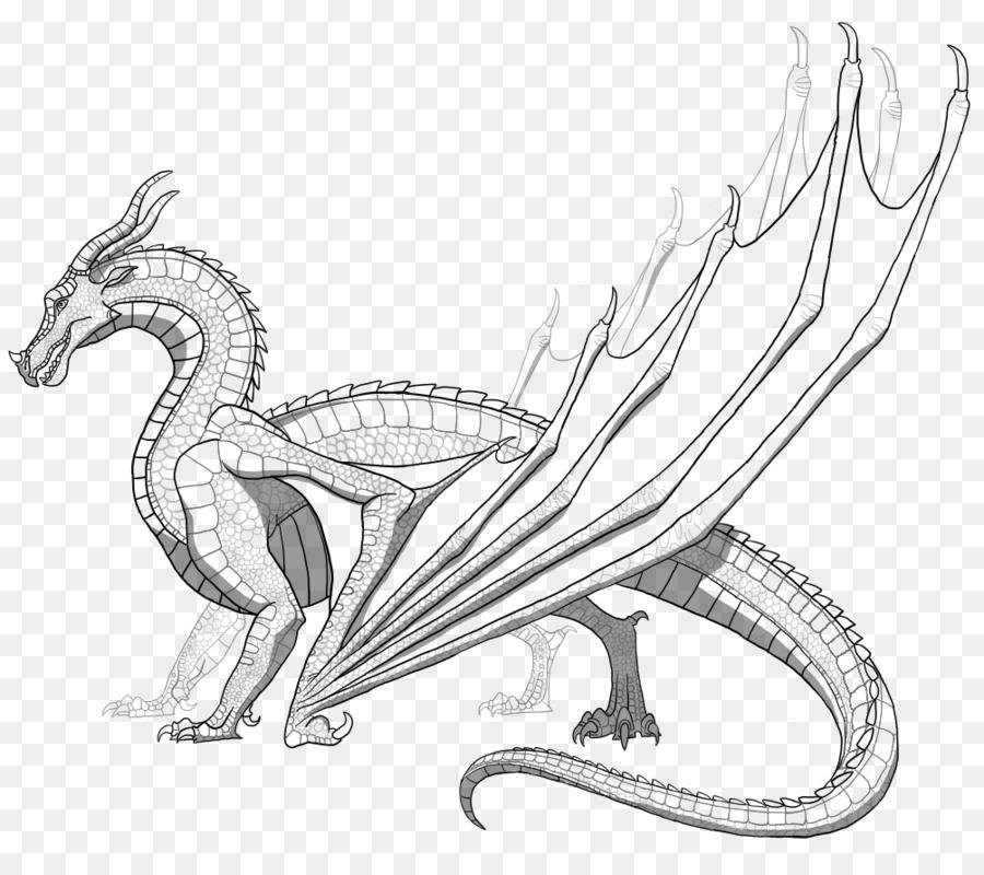 dragon a lapiz de varias capas
