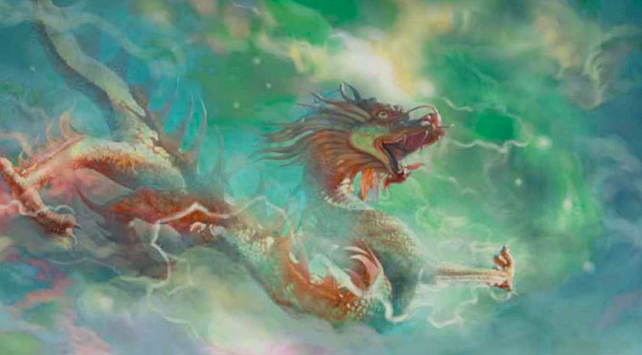 Longwan rey dragón chino