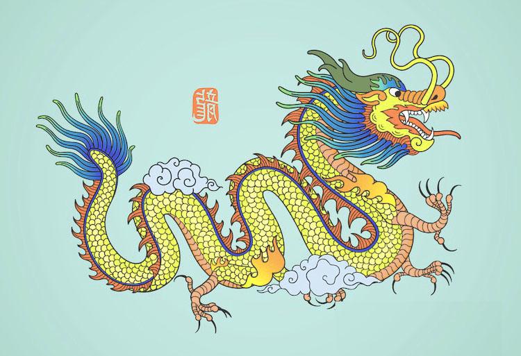 Serpiente o dragón divino de China